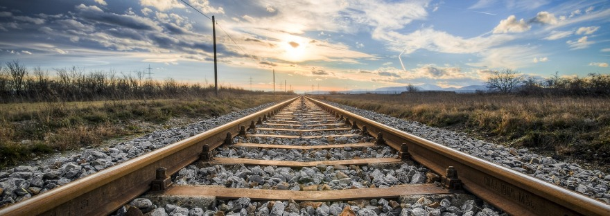 Free stock image of a railroad