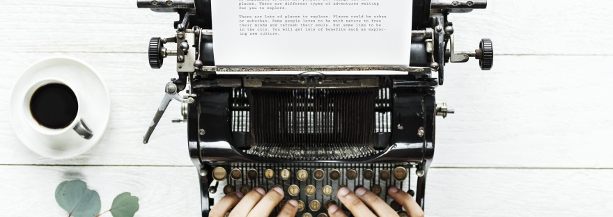 Typewriter at Ask Sam Virtual Assistant Peterborough